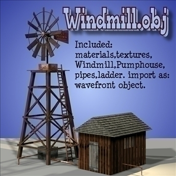 windmill.obj 3d model obj 104923