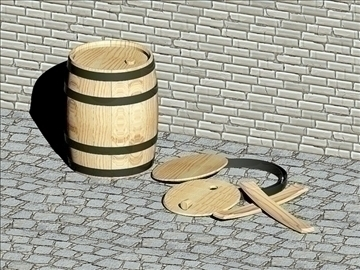 wooden barrels of 25 liters 3d model dwg 108175