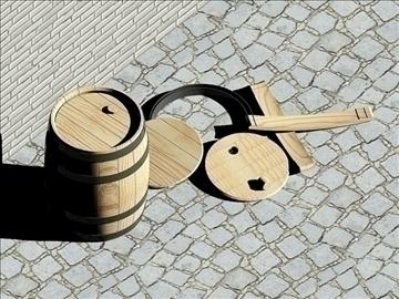 wooden barrels of 25 liters 3d model dwg 108177