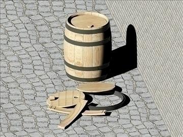 wooden barrels of 25 liters 3d model dwg 108178