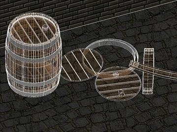 wooden barrels of 25 liters 3d model dwg 108180