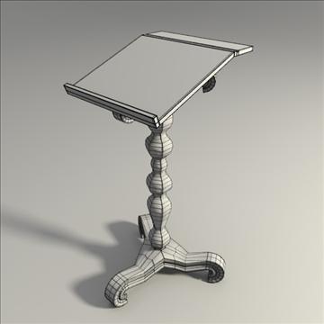 wooden bookstand 3d model 3ds blend obj 104097