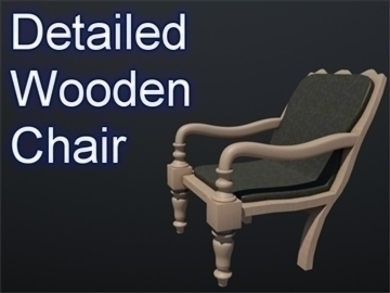 wooden chair 002 3d model 3ds max ma mb 102250