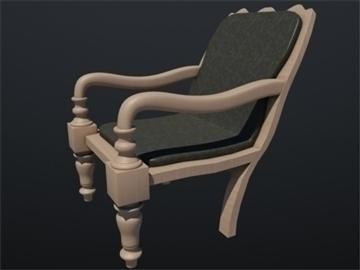 wooden chair 002 3d model 3ds max ma mb 102251