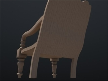 wooden chair 002 3d model 3ds max ma mb 102254