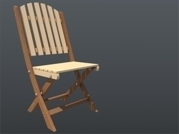 wooden chair and table set 001 3d model 3ds max ma mb 102193