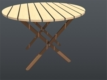 wooden chair and table set 001 3d model 3ds max ma mb 102194