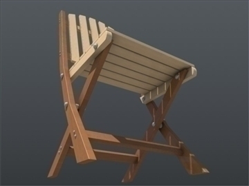 wooden chair and table set 001 3d model 3ds max ma mb 102195