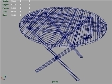 wooden circular table 001 3d model 3ds max ma mb 102203