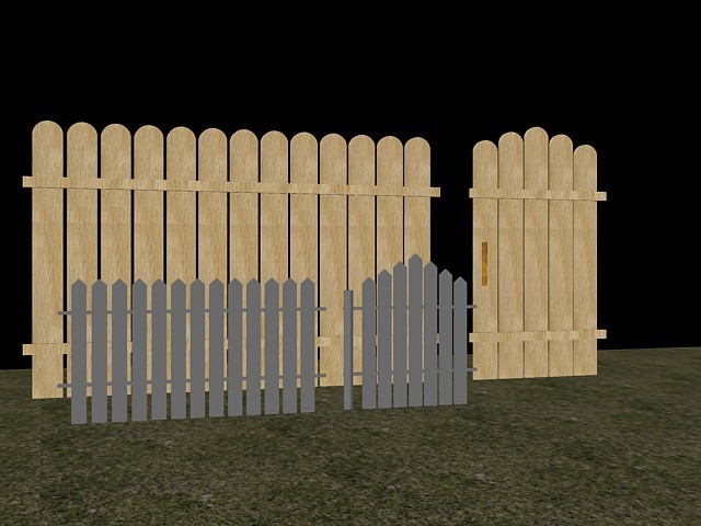 wooden fencing 3d model dxf 94342