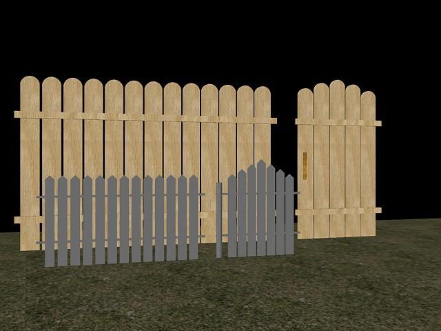 drvena ograda 3d model dxf 94342