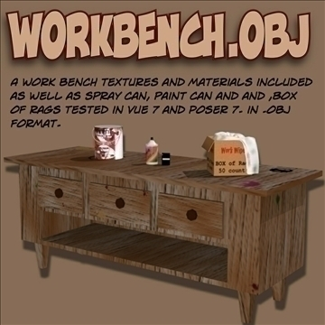 workbench.obj 3d model obj 104972