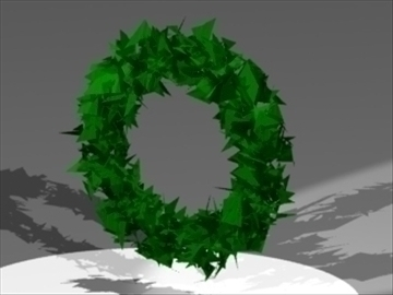 wreath 3d model 3ds dxf lwo 81024