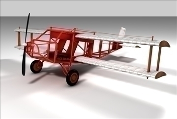 wright brothers plane 3d model 3ds c4d texture 86892