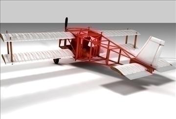 braća Wright avion 3d model 3ds c4d tekstura 86893