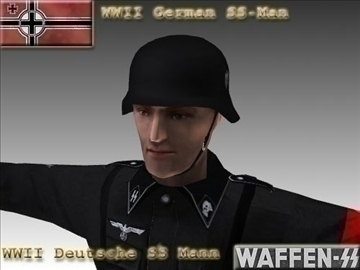 ww2 jerman ss man. 3d model 3ds maks x lwo ma mb obj 104012