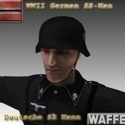 WW2 German SS Man. ( 47.76KB jpg by WW2Model )