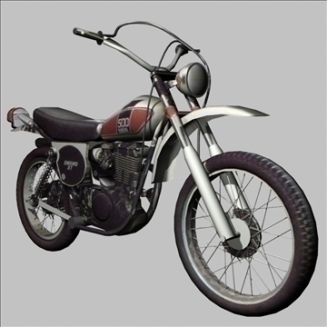 yamaha xt 500 enduro 3d model 3ds 79429