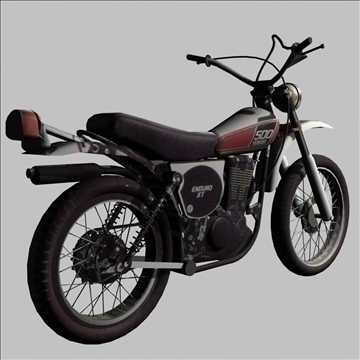 yamaha xt 500 enduro 3d model 3ds 79430