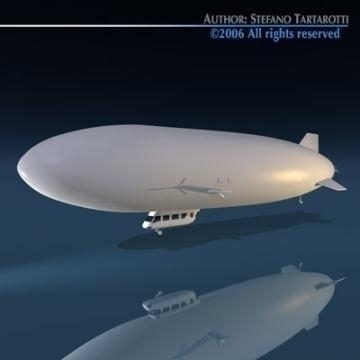 zeppelin 3d model 3ds dxf obj 77597