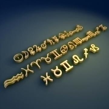 zodiac_symbols_ 3d model 3ds max dxf fbx lwo ma mb hrc xsi obj 99441