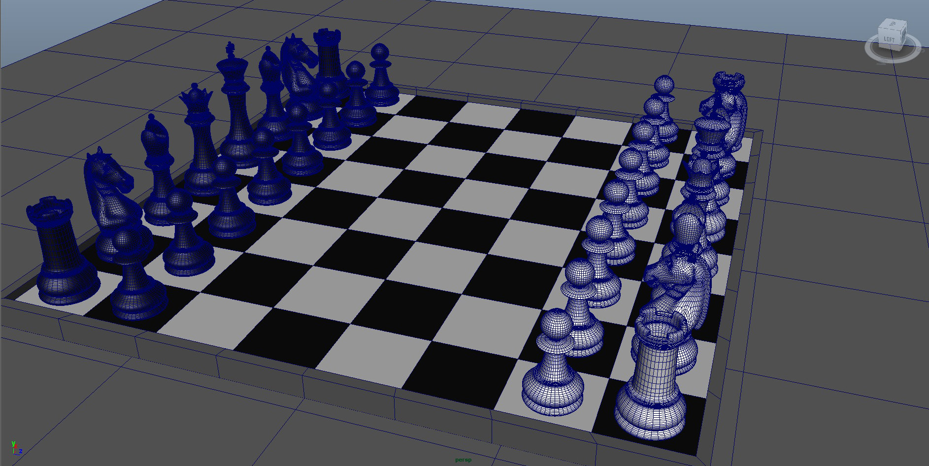 chess 3 3d model fbx ma mb obj 153539