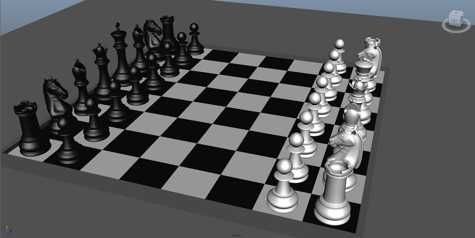 chess 3 3d model fbx ma mb obj 153540