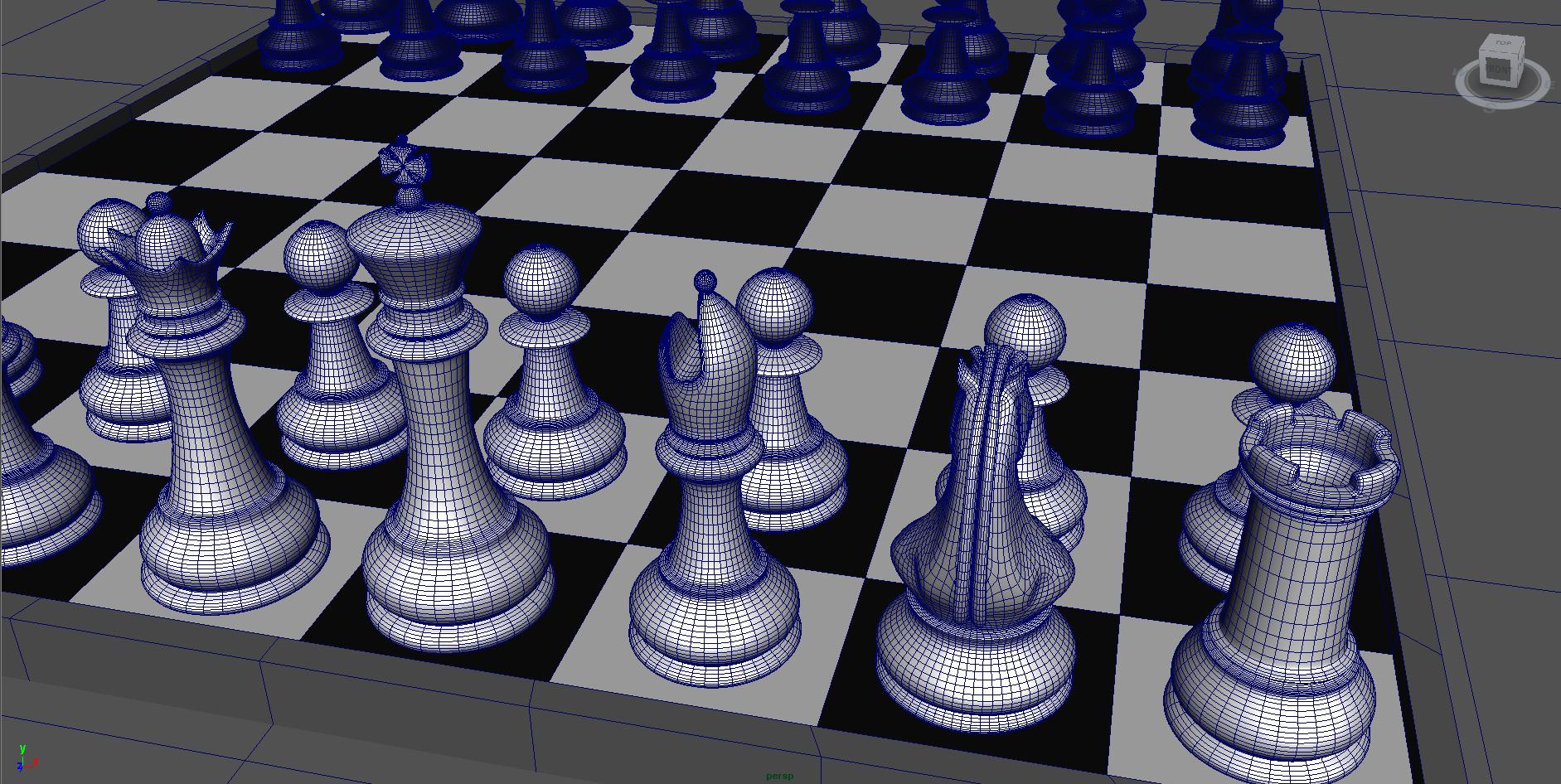 chess 3 3d model fbx ma mb obj 153541