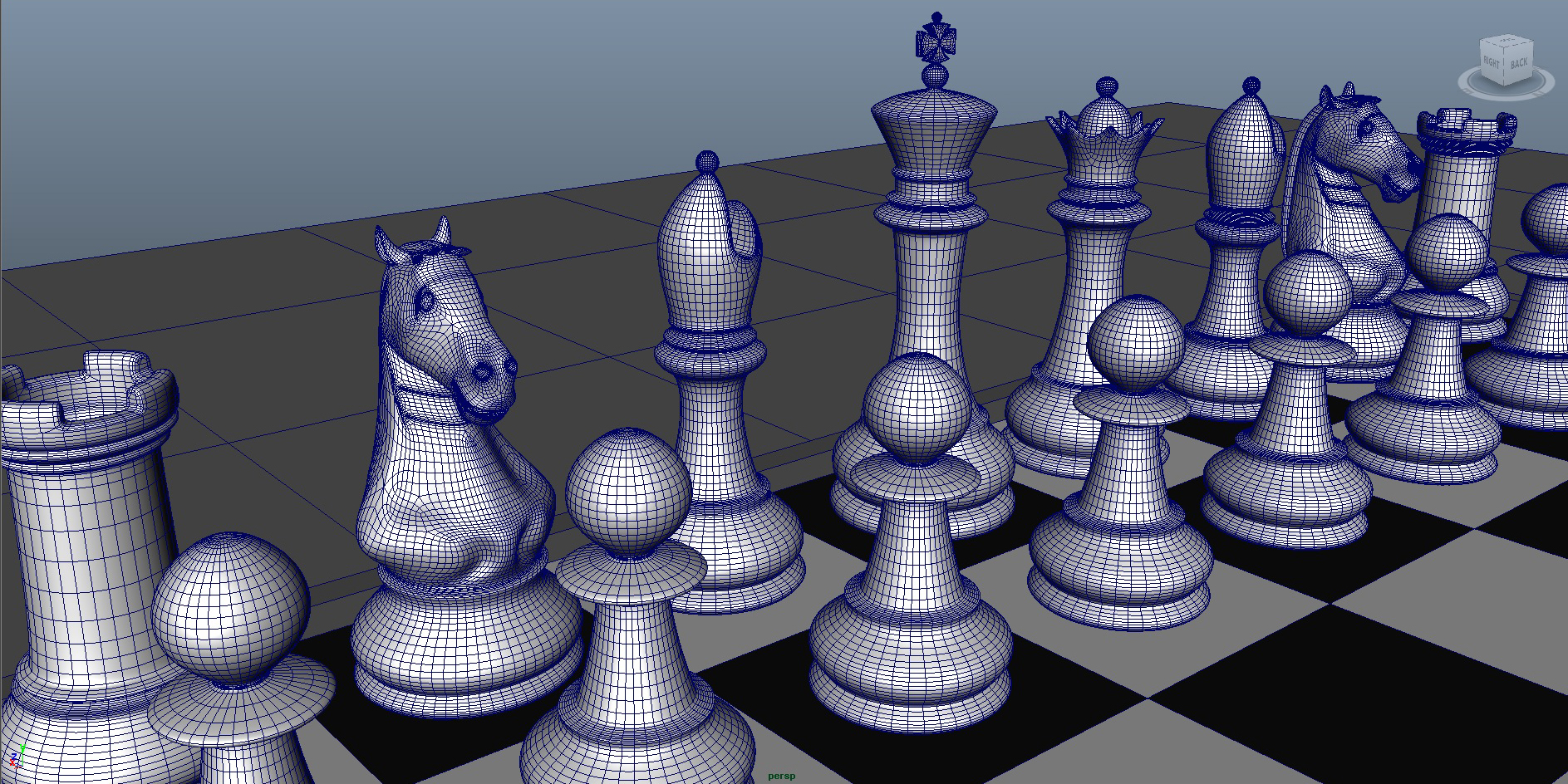 chess 3 3d model fbx ma mb obj 153542