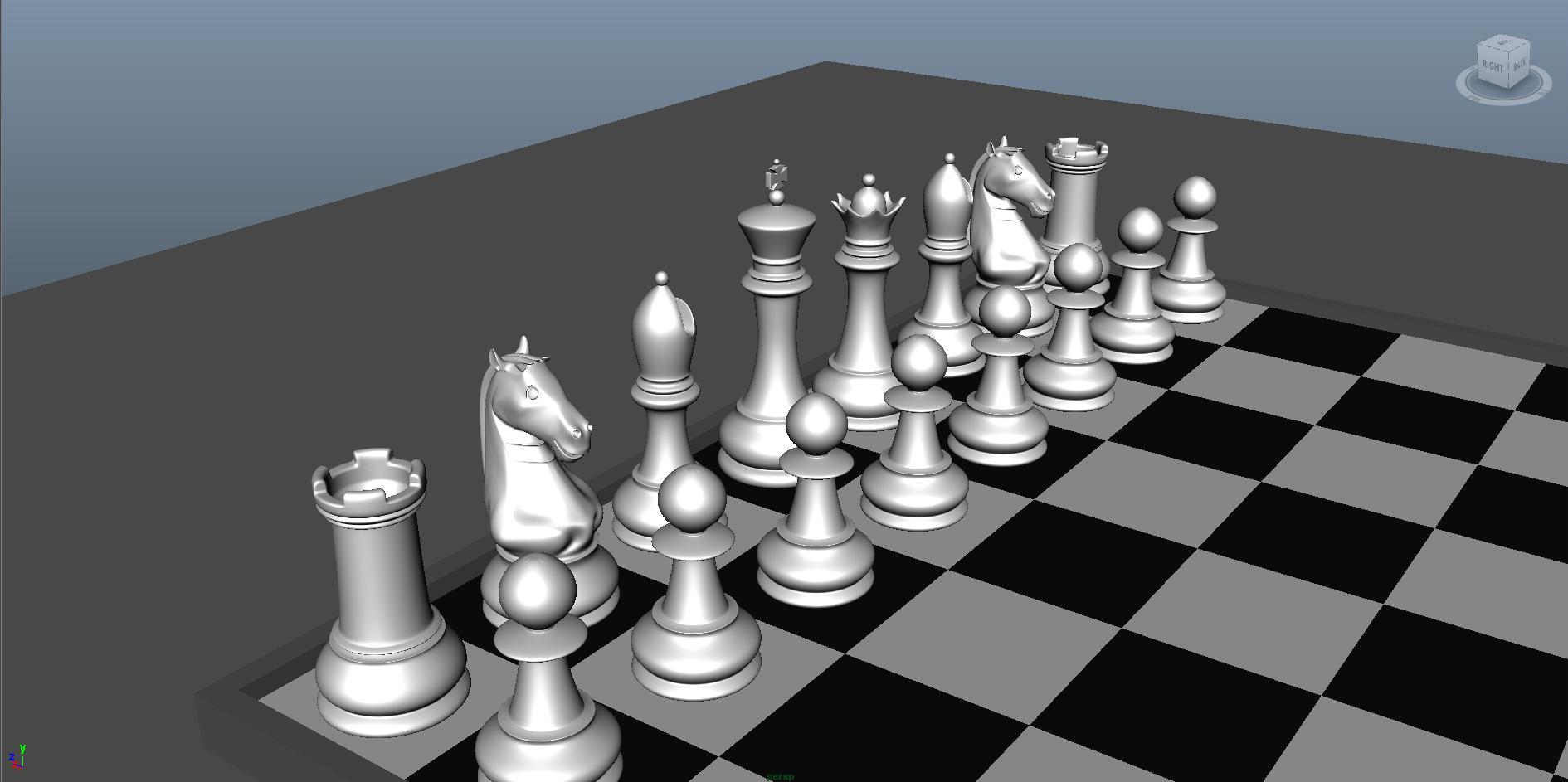 chess 3 3d model fbx ma mb obj 153543