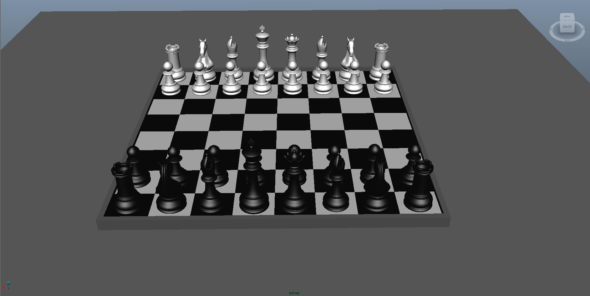 chess 3 3d model fbx ma mb obj 153544