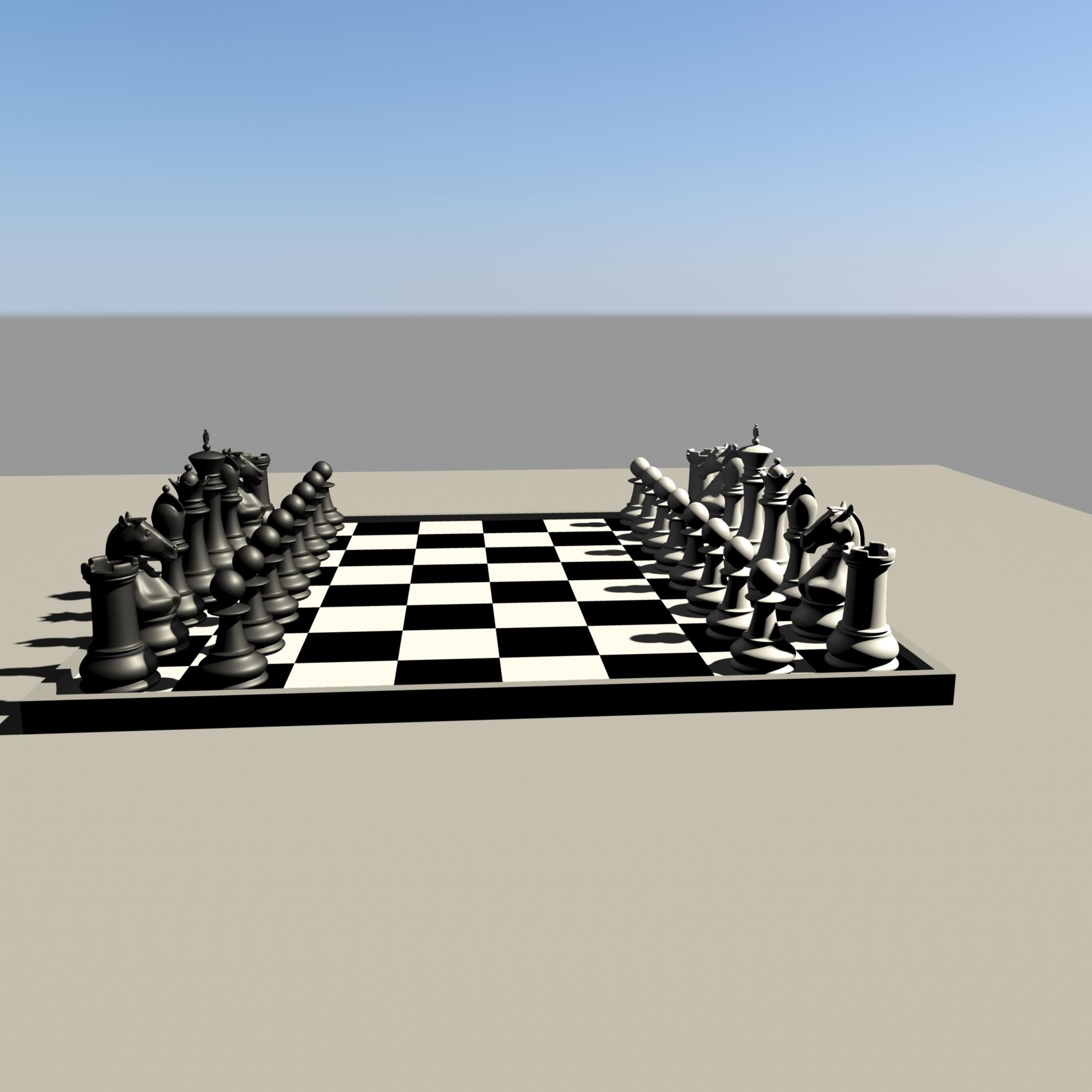 chess 3 3d model fbx ma mb obj 153545