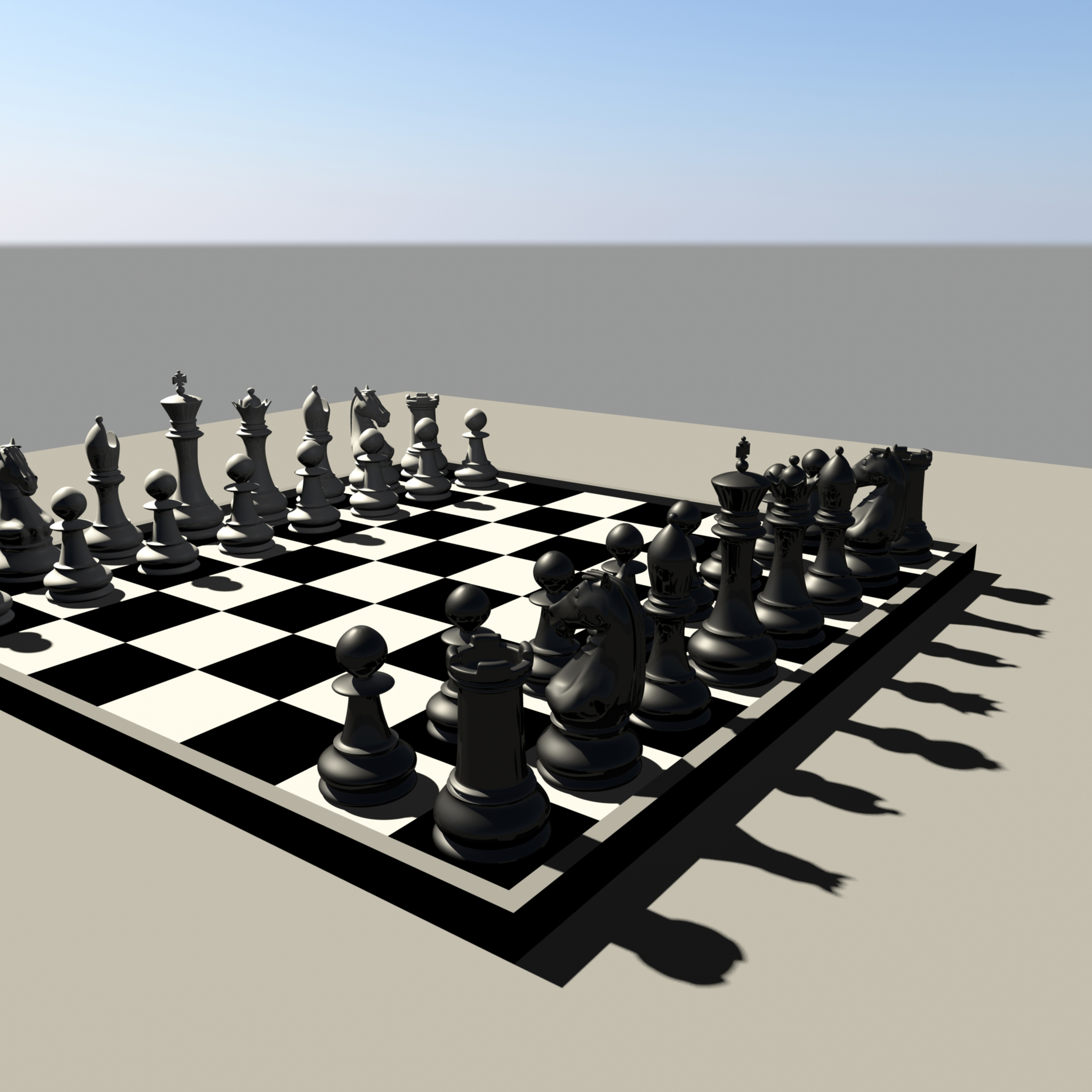 chess 3 3d model fbx ma mb obj 153547