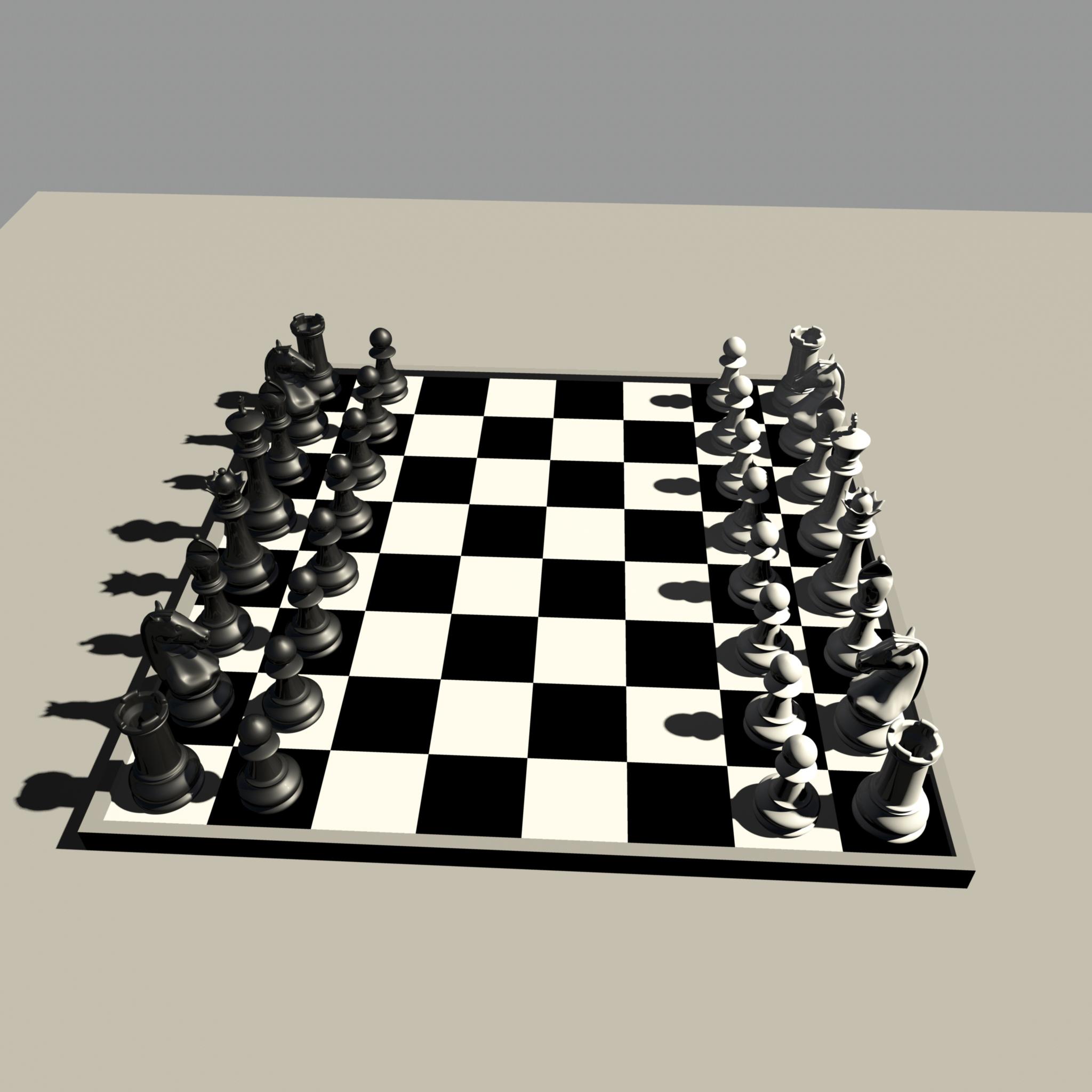 chess 3 3d model fbx ma mb obj 153548
