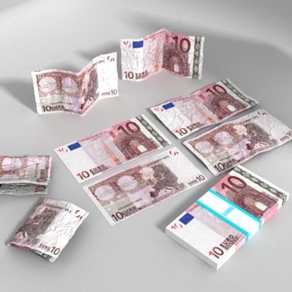 10 euro paper money 3d model 3ds max obj 129403