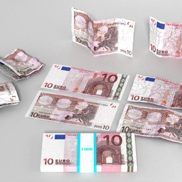 10 euro paper money 3d model 3ds max obj 129404