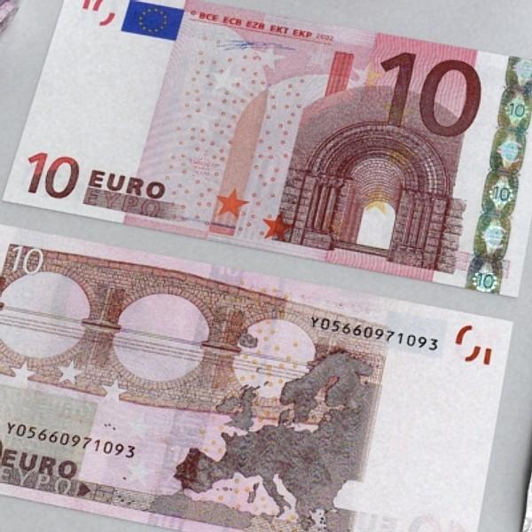 10 евро цаасан мөнгө 3d загвар 3ds max obj 129405