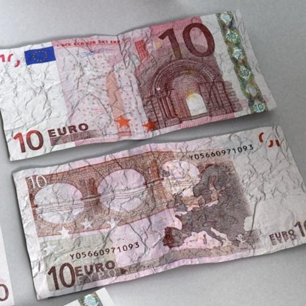 10 евро цаасан мөнгө 3d загвар 3ds max obj 129406