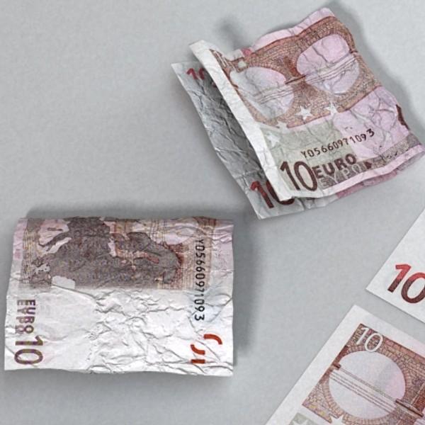 10 евро цаасан мөнгө 3d загвар 3ds max obj 129407