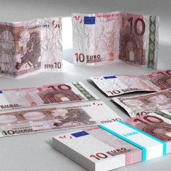 10 euro paper money 3d model 3ds max obj 129408