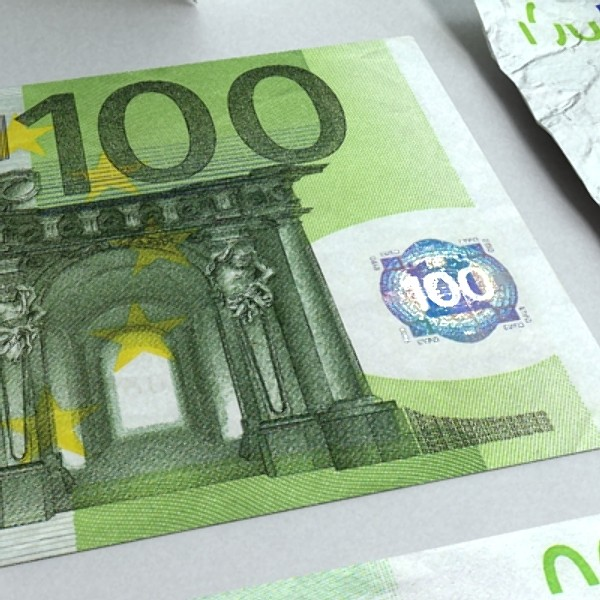 100 euro paper money 3d model 3ds max obj 129429