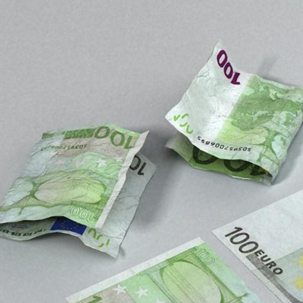 100 евро цаасан мөнгө 3d загвар 3ds max obj 129431