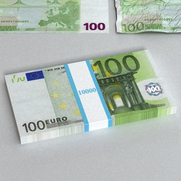 100 евро цаасан мөнгө 3d загвар 3ds max obj 129434
