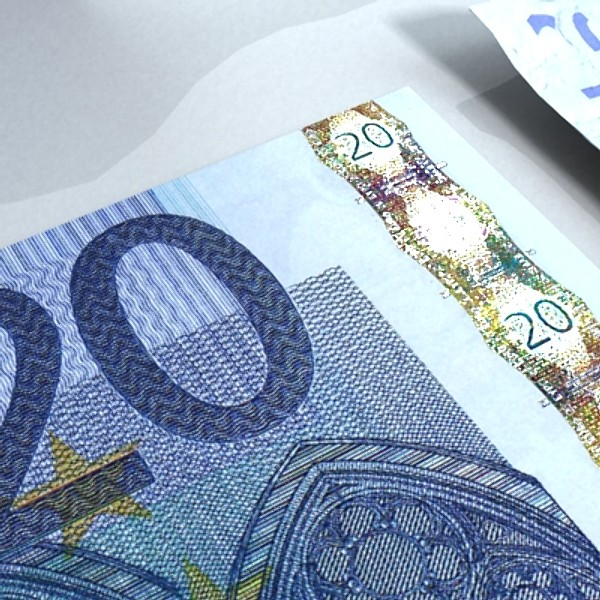 20 euro paper money 3d model 3ds max obj 129411