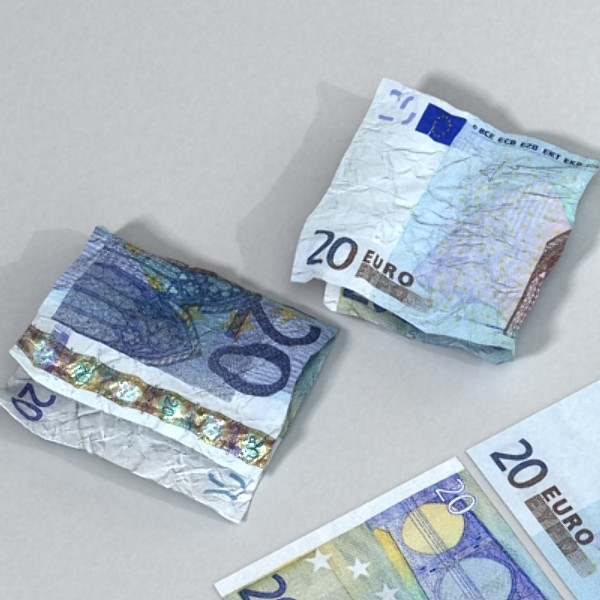 20 euro paper money 3d model 3ds max obj 129416
