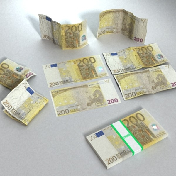 200 евро мөнгөн тэмдэгтийн 3d загвар 3ds max obj 129446