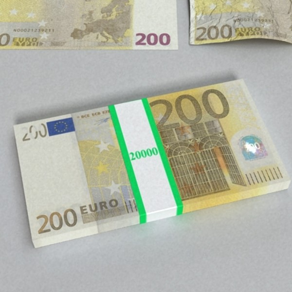 200 euro banknote 3d model 3ds max obj 129451