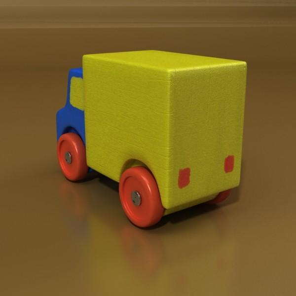 3d model of a wooden toy truck. 3d model 3ds max fbx obj 129572