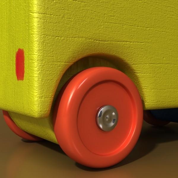 3d model of a wooden toy truck. 3d model 3ds max fbx obj 129573
