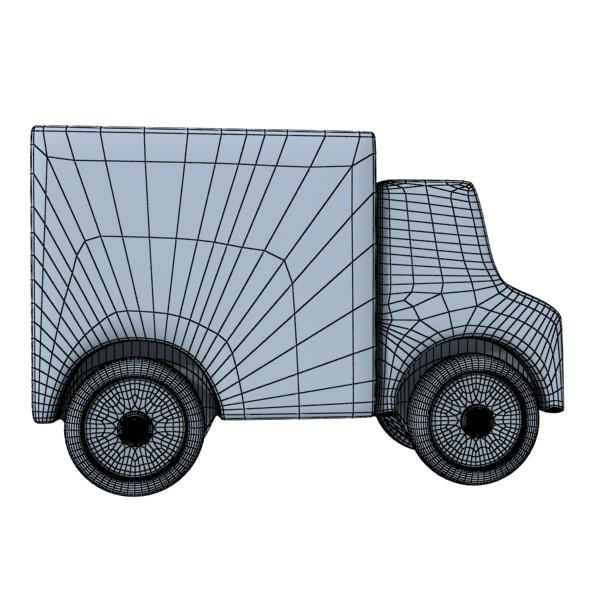 3d model of a wooden toy truck. 3d model 3ds max fbx obj 129574